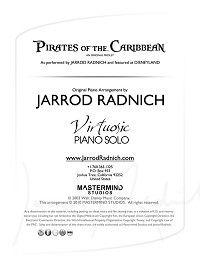 Jarrod Radnich Pirates Sheet Music ouesh