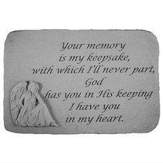 Your Memory is My Keepsake Garden Stone