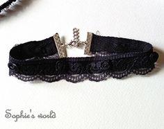 τσόκερ κολιέ με δαντέλα κ τριανταφυλλάκια  #choker #necklace #lace #handmadegreece https://www.facebook.com/SophiesworldHandmade/