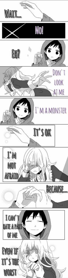 Seto and Mary [Kagerou Daze] > [Imagination Forest] Sad Anime Quotes, Manga Quotes, Dark Quotes, Depression Quotes, Anime Love, True Quotes, Picture Quotes, Manga Anime, Inspirational Quotes