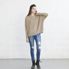 Braided Sweater by Naftul on Little Paper Planes $86