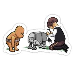"""""""Most Likely Lose It Again, Anyway"""" (Wookiee The Chew) by James Hance/ stickers on RedBubble // Star Wars // Winnie the Pooh"""