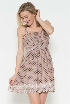 Sweet Southern Summer Navy Polka Dot Dress