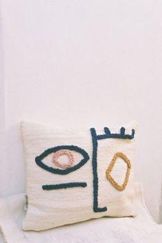 Punch needle cushion