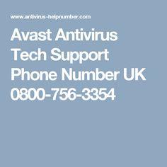 Avast Antivirus Tech Support Phone Number UK 0800-756-3354