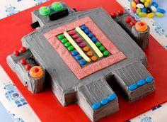 Kids birthday cake recipe - Robot cake - Yahoo!7 Food