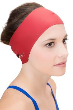 f34bf0e9e84 Hair Guard & Ear Guard Headband - Wear Under Swim Caps for Protection &  Water Repellent Seal, also comes in white, black, pink & blue, $10.99