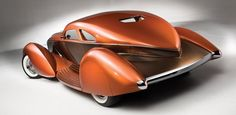 1934 Packard Myth custom boattail coupe - 500 cubic inch V-12 - Custom concept, rear - pic 3 of 4
