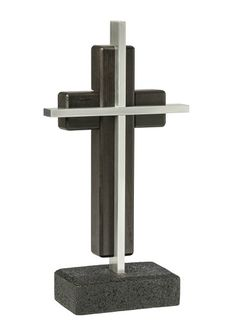 Unity Cross - Satin Black and Brushed Aluminum