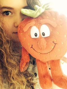 Selfie with scarlet strawberry