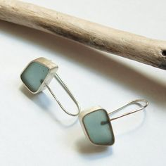 Handmade resin and sterling silver earrings $75 from @Etsy