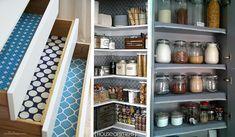 Decora tus #muebles de #cocina por dentro con un poco de #washitape