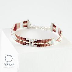 IDÉE CADEAU NOËL Bracelet tissé en perles miyuki / Perles argentées en plaquées Argent 925 Bracelet 100% fait à la main en France !! ► DESCRIPTION Longueur du br - 16662314