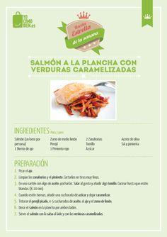 Salmón con verduras caramelizadas. Chute de Omega 3!!