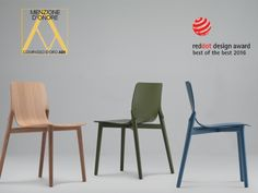 2016: kayak chair by Patrick Norguet wins both RED DOT BEST OF THE BEST 2016 & MENZIONE D'ONORE COMPASSO D'ORO  #award #reddot #menzionedonore #kayak #patricknorguet