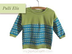 Zum Freitag zeigen wir Euch den Pulli Elis in grün & türkis mit Streifen- Karo. Wie immer zu finden hier:  >> de.dawanda.com/shop/mypunctum >> etsy.com/de/shop/mypunctum  Keinen Login für Dawanda oder Etsy? Kein Problem: >> Schick eine Email an office@mypunctum.com Shops, Baby Kind, Office, Pullover, Sweaters, Etsy, Fashion, Friday, Fall Winter