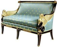 French Empire sofa . re-upholstored