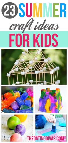 101 Summer Boredom Busters - Summer craft ideas and activities list for kids