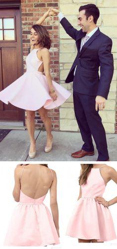 Pink Homecoming Dress, Short Homecoming Dress,Cute Homecoming Dress,Mini Homecoming Dress,Homecoming Dress es 2017, New Homecoming Dresses