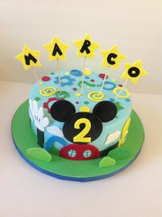Mickey Mouse Clubhouse cake for 2nd birthday :)