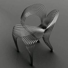 Stainless Steel Wire Chair - Ron Arad: Arad claims it is supportive and has a comfortable bounce. by x_romy
