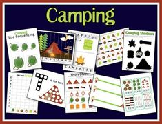Camping Activity Pack from A Teaching Mommy