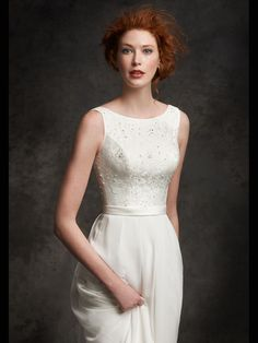 Style * GA2247 * » Bridal Gowns, Wedding Dresses » Gallery 2015 Collection » by Ella Rosa (Private Label By G) » Available Colours : Ivory, White ~ Shown with Band at waist (close up)