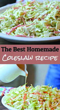 reading to find out how you can make a delicious, homemade coleslaw (or cole slaw) recipe in less than 15 minutes.Keep reading to find out how you can make a delicious, homemade coleslaw (or cole slaw) recipe in less than 15 minutes. Veggie Recipes, Dinner Recipes, Cooking Recipes, Healthy Recipes, Healthy Options, Cheap Recipes, Delicious Recipes, Coleslaw Recipe Easy, Creamy Cole Slaw Recipe