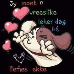 Lekker Dag, Goeie More, Good Morning, Minnie Mouse, Disney Characters, Fictional Characters, Afrikaans, Buen Dia, Bonjour