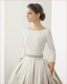 Spring Trendy High Neckline Long Sleeves Satin Overlay Lace Chapel