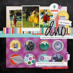 DAY 5: Second City Kelly Goree layout for Halloween.  Love the circles.
