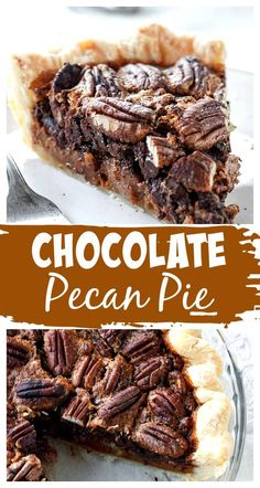 A twist on the traditional (and much-loved) pecan pie, this recipe has chocolate, bourbon, and maple syrup for extra flavor and richness. Whether you use our homemade flaky pie crust or a store-bought one, you'll love how simple it is to put together and how quickly it disappears! #pecan #pie #chocolate #piecrust