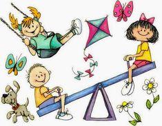 Baú da Web: Desenhos de crianças brincando