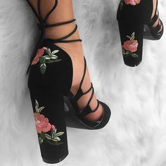 "13.4k Likes, 79 Comments - @melissacalma on Instagram: ""@simmishoes coming through with the cutest shoes these are the 'Reina Black Suede Floral Lace Up…"""