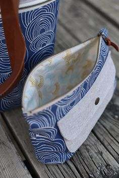 Caravan Tote + Pouch in Rain Walk by Anna Graham