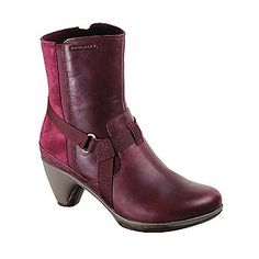 """Merrell """"Evera Fade"""" Ankle Boots in Wine"""