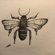 Bee #tattoo #ink @cassillustration