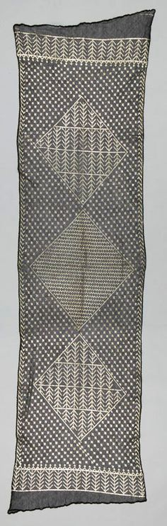Africa   Shawl from Asyut, Upper Egypt   ca. 1900 - 1930   Netted cotton and silver.