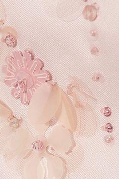 Prada - Cropped Appliquéd Silk-gazar Top - Blush - IT42