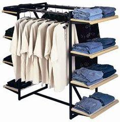 Amazon.com: Designer 411 Double Rail Combination Rack: Industrial & Scientific Boutique Interior, Clothing Store Interior, Shop Interior Design, Retail Design, Store Design, Clothing Storage, Diy Clothes Rack, Retail Shelving, Store Layout