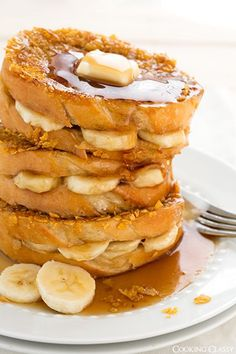 Banana Stuffed French Toast - I've been making this french toast for nearly 10 years, it's a family favorite!