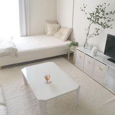 Interior Living Room Design Trends for 2019 - Interior Design Room Ideas Bedroom, Small Room Bedroom, Bedroom Decor, Small Room Interior, Apartment Interior, Deco Studio, Minimalist Room, Aesthetic Room Decor, Cozy Room