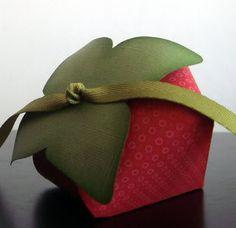 strawberry box tutorial...strawberries are trending for weddings!