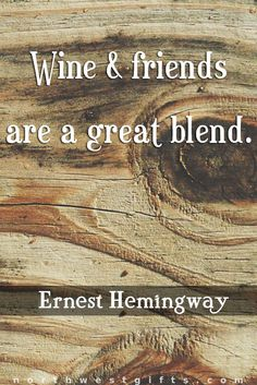 Sharing wine with friends, a great way to kick off the weekend.