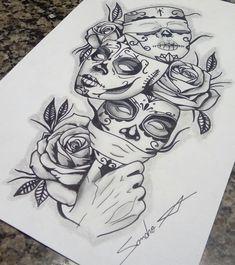 Chicano Art Tattoos, Kunst Tattoos, Forarm Tattoos, Body Art Tattoos, Tattos, Dope Tattoos For Women, Badass Tattoos, Cute Tattoos, Beautiful Tattoos