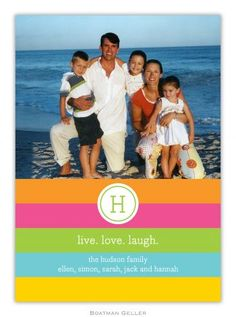 Bold Stripe Photo Card