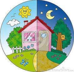 Slikovni rezultat za dia y noche infantil Montessori Activities, Activities For Kids, Crafts For Kids, Jungle Classroom Door, Theme Days, Kindergarten Science, Day For Night, Drawing For Kids, Kids Education