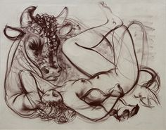 Hans ERNI  -  Europe, 1953, Lithographie,  mm: 500 x 400.
