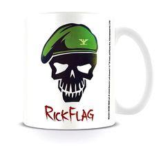 Suicide Squad Mug Rick Flag Skull DC Comics White boxed - Paradiso Clothing