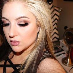 Classic clean glam winged liner makeup